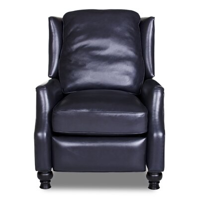 Ignatius Leather Recliner Upholstery: Vintage Navy