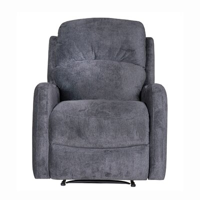 Galen Manual Wall Hugger Recliner Upholstery: Polo Club Kohl