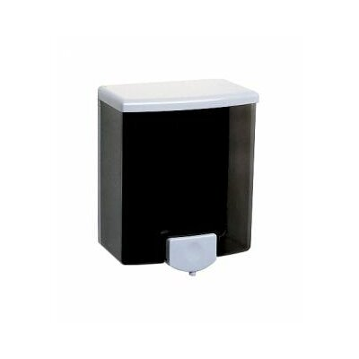 ClassicSeries Surface-Mounted Soap Dispenser, 40-oz, Black/Gray, 1 EA