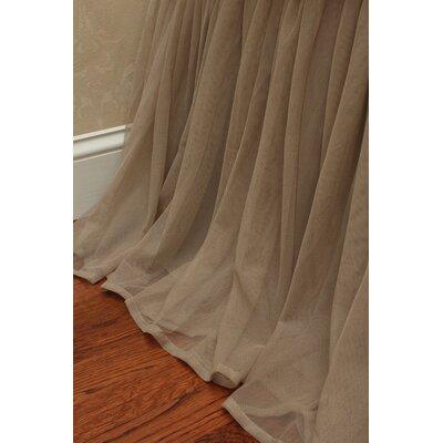 Whisper Bedskirt Size: King, Color: Sable