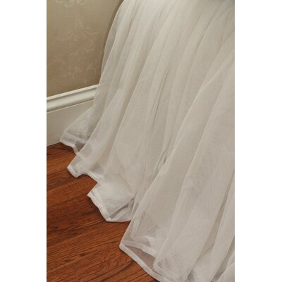 Whisper Bedskirt Size: Queen, Color: White
