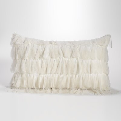 Chichi Jute Throw Pillow Color: Ivory / Natural