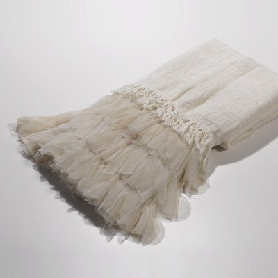 Chichi Linen Throw Color: Ivory