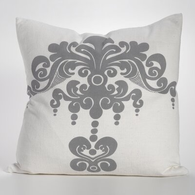 Enchantique Cotton Throw Pillow Color: Dark Grey