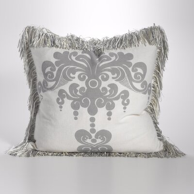Enchantique Cotton Throw Pillow Color: Platinum
