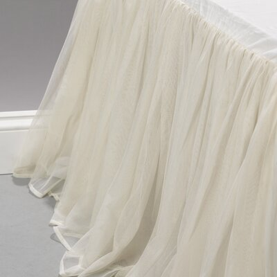 Whisper Bedskirt Size: Queen, Color: Ivory