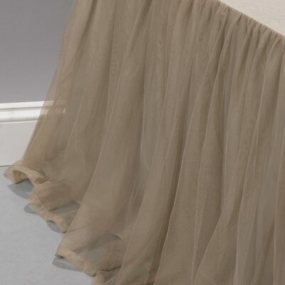 Whisper Bedskirt Size: King, Color: Sable