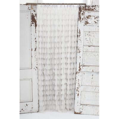 Chichi Petal Shower Curtain Color: Ivory