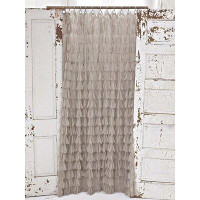 Chichi Petal Shower Curtain Color: Sable
