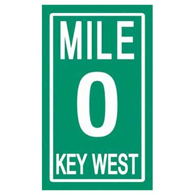 Mile Zero Key West Beach Towel