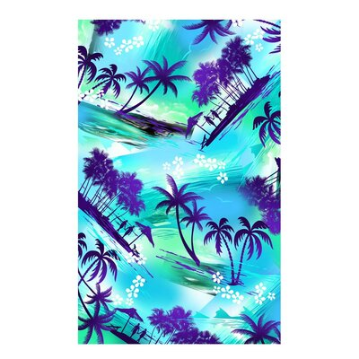 Tropical Island Beach Towel Color: Blue