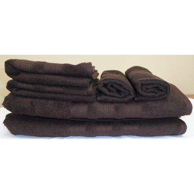 Campari Ring Spun 6 Piece Towel Set Color: Chocolate