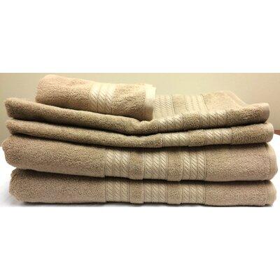 Campari Ring Spun 6 Piece Towel Set Color: Linen
