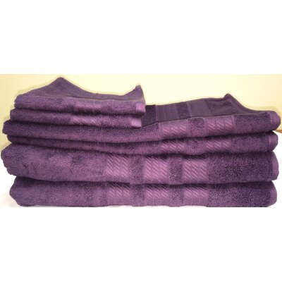 Campari Ring Spun 6 Piece Towel Set Color: Plum