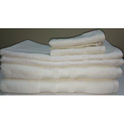 Campari Ring Spun 6 Piece Towel Set Color: White