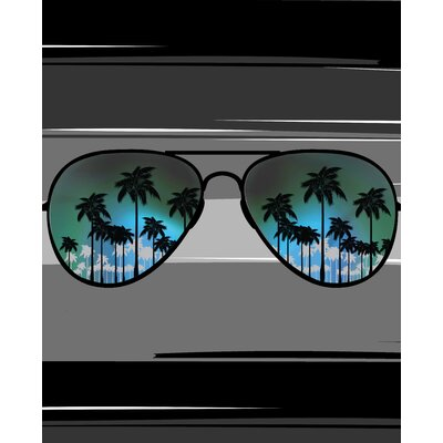 Aviator Sunglass Print Beach Towel