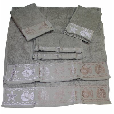 Fish Border 6 Piece Towel Set