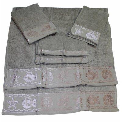 Fish Border 6 Piece Towel Set