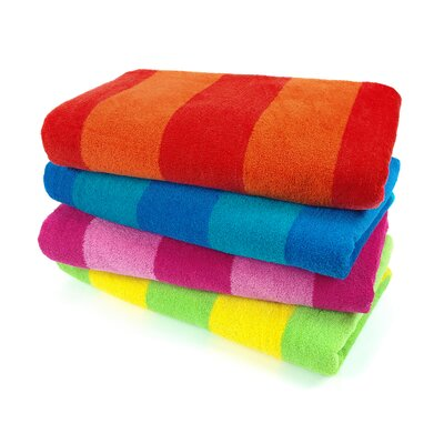 Two Color Stripe Beach Towel