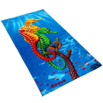 Royce Seahorses Printed Beach Towel