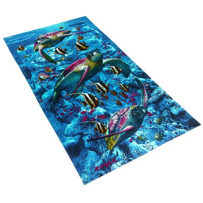 Royce Turtle Town Printed Beach Towel