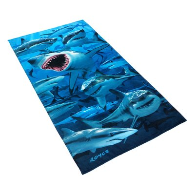 Royce Hungry Shark Printed Beach Towel