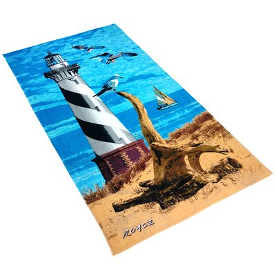 Royce Lighthouse Printed Beach Towel