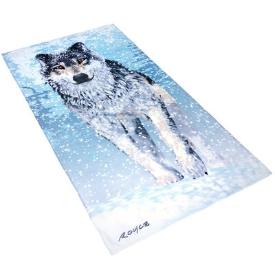 Royce Snow Wolf Printed Beach Towel