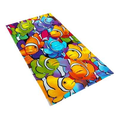 Royce Clown Fish School Printed Beach Towel