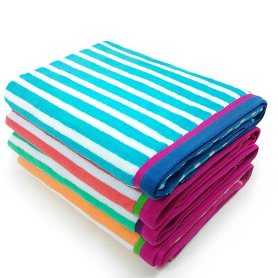 Tallowick Stripe Velour Beach Towel