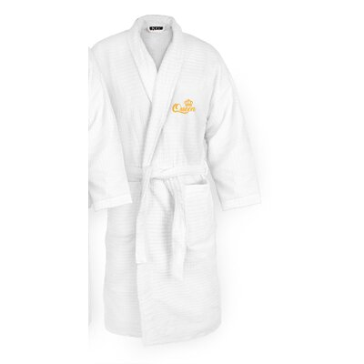 Queen Embroidered Sugarcube Bathrobe Color: Gold