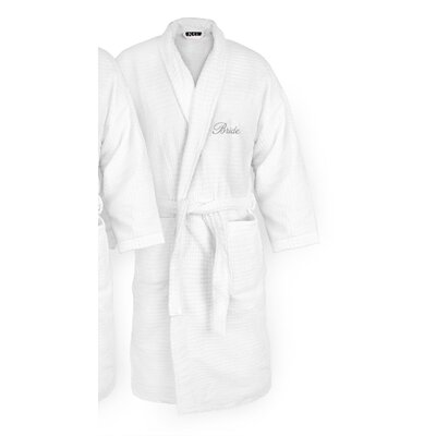 Bride Embroidered Sugarcube Bathrobe Color: Silver