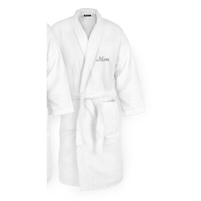 Mom Embroidered Sugarcube Bathrobe Color: Silver