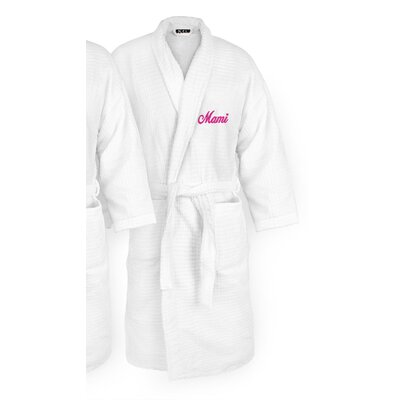 Mami Embroidered Sugarcube Bathrobe Color: Fuchsia