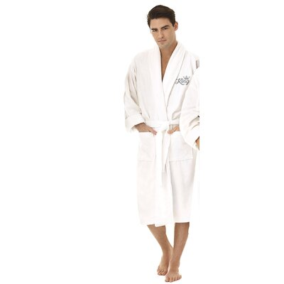 King Embroidered Shawl Collar Bathrobe Color: Silver