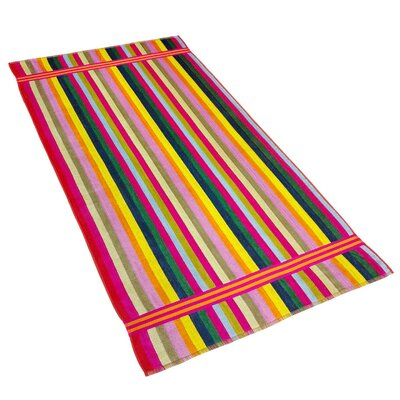 Candy Stripe Velour Beach Towel