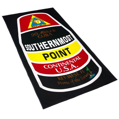 Southernmost Point Printed Beach Towel