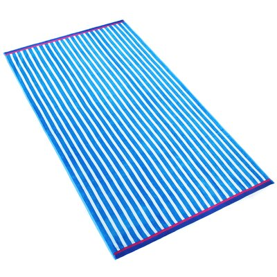 Stripe Beach Towel Color: Pacific Blue