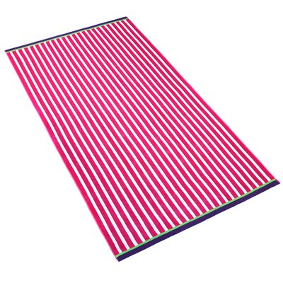 Stripe Beach Towel Color: Cyber Pink