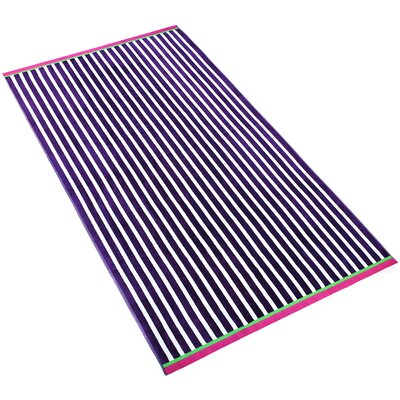 Stripe Beach Towel Color: Deep Purple