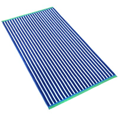 Stripe Beach Towel Color: Royal