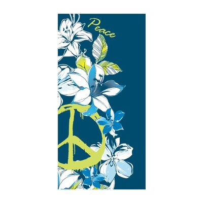 Hibiscus Peace Beach Towel Color: Blue