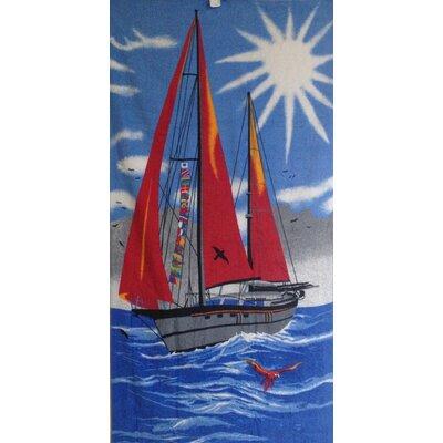 Sail Boat Printed Beach Towel