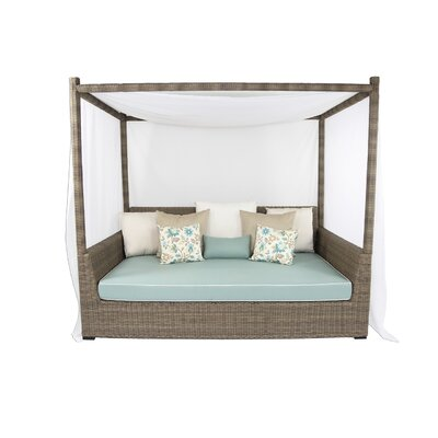 Palisades Viceroy Day Bed with Cushions Fabric: Sunbrella Canvas Air Blue
