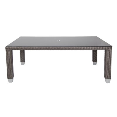 Signature Dining Table Rectangular with Tempered Glass Top SB-4284