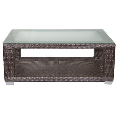 Signature Coffee Table with Tempered Glass Top