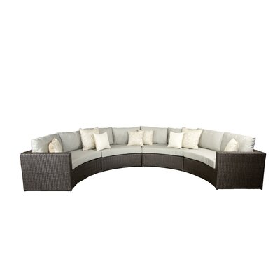 Vallejo Sectional with Cushions Set Finish: Brown