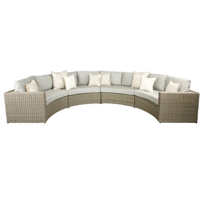 Vallejo Sectional with Cushions Set Finish: Grey