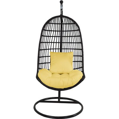 Skye Birds Nest Swing Chair with Stand Fabric: Daffodil