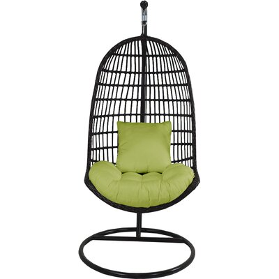 Skye Birds Nest Swing Chair with Stand Fabric: Kiwi